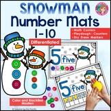 SNOWMAN Math Number / Playdough Mats 1-10 ~ Kindergarten C