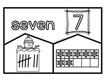 SNOWMAN Math Number Puzzles 1 – 10 - Ten Frames and Tally Marks