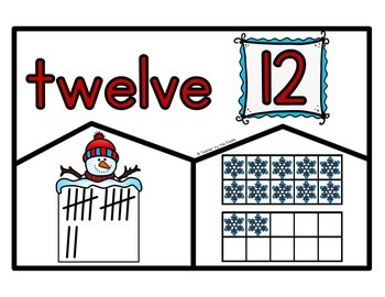 SNOWMAN Math Number Puzzles 11 – 20 - Ten Frames and Tally Marks