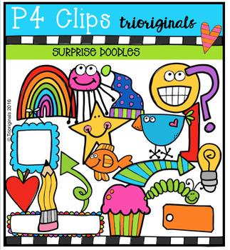 SURPRISE Doodles (P4 Clips Trioriginals Digital Clip Art)