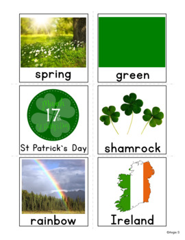 Saint Patrick`s Day Vocabulary Cards for Special Ed and Autism