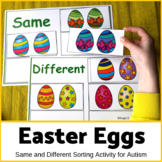 Easter Eggs Activity for Special Education Same and Different Set 2