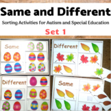 Same and Different Sorting for Autism and Special Ed Set 1