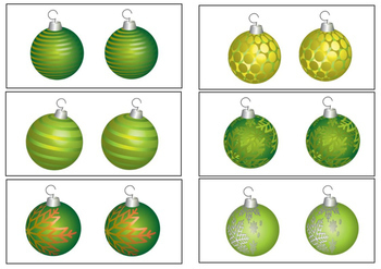 Christmas Activity Same and Different Baubles
