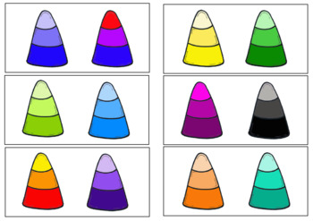 Same or Different- Candy Corn, Fall Sorting Activity