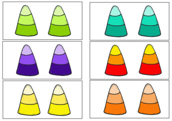 Candy Corn, Fall Sorting Activity, Same and Different