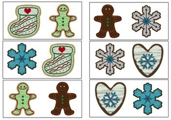 Same or Different -Christmas Cookies