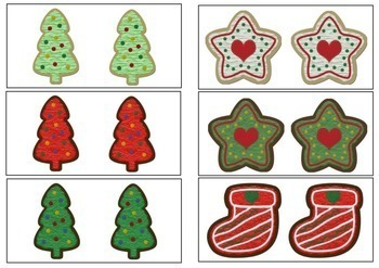 Christmas Activity - Sorting Same and Different Cookies