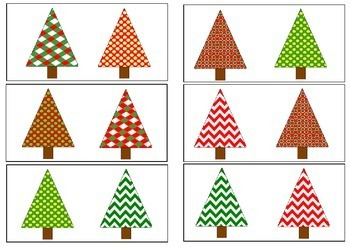 Same or Different- Christmas Trees