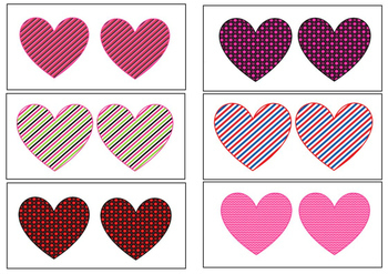 Same and Different -Hearts for Valentine`s Day
