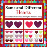 Hearts for Valentine`s Day - Same and Different