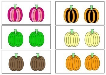 Same and Different Sorting Pumpkins