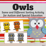 Same and Different - Owls, Halloween Activity