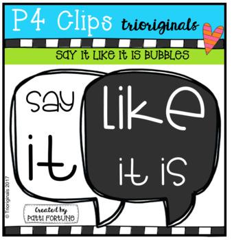 Say it Bubbles (P4 Clips Trioriginals Clip Art)