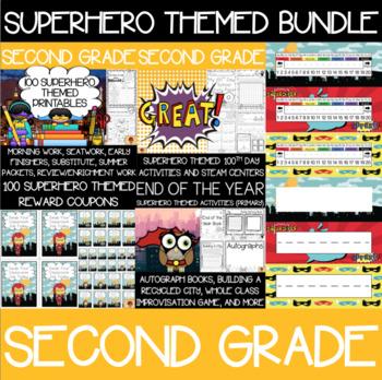 Second Grade Superhero Supplies Bundle
