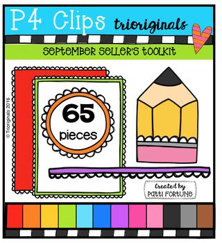 September Seller's Toolkit (P4 Clips Trioriginals Digital Clip Art)