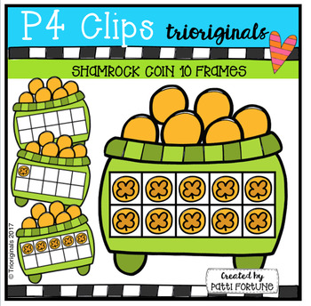 Shamrock Coin 10 Frames (P4 Clips Trioriginals Clip Art)