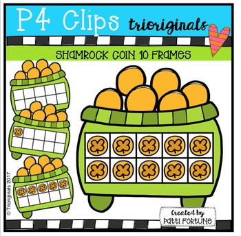Shamrock Coin 10 Frames (P4 Clips Trioriginals Clip Art)
