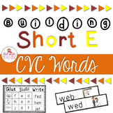 Short E Word Cards and CVC Student Book