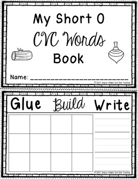 Short O Word Cards and CVC Student Book