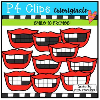 Smile 10 Frames (P4 Clips Trioriginals Clip Art)
