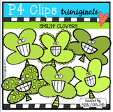 Smilin' Clovers (P4 Clips Trioriginals Clip Art)