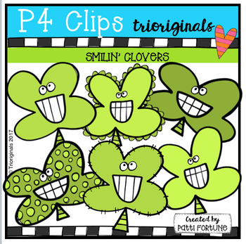 Smilin' Clovers (P4 Clips Trioriginals Clip Art)