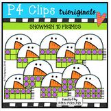 Snowman 10 Frames (P4 Clips Trioriginals Digital  Clip Art)