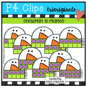 Snowman 10 Frames (P4 Clips Trioriginals Digital  Clip Art)