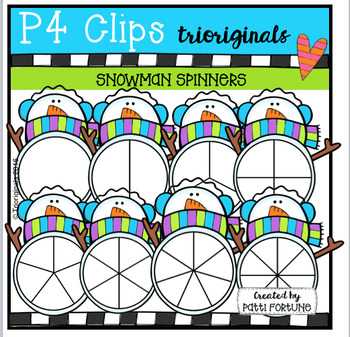 Snowman Spinners (P4 Clips Trioriginals Digital Clip Art)