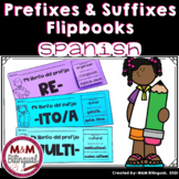 Spanish Prefixes and Suffixes Flipbooks | Prefijos y sufijos