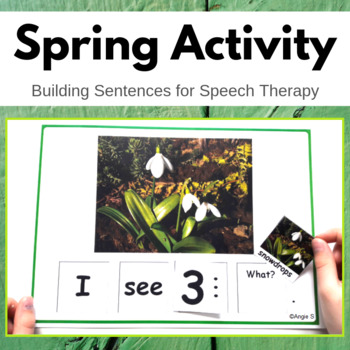 Spring Build a Sentence for Speech Therapy