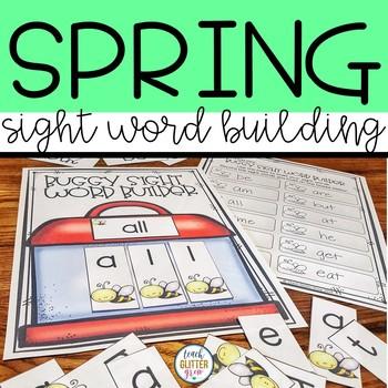Spring Bug Themed Pre-k, Kindergarten & 1st Grade Sight Words Activity