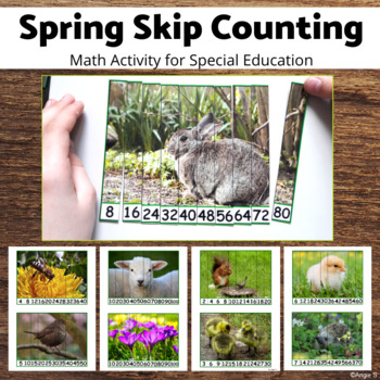 Spring Skip Counting Puzzles
