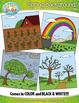 Spring Background Scenes Clipart {Zip-A-Dee-Doo-Dah Designs}