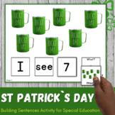 St Patrick`s Day Speech Therapy Activity - Sentence Building