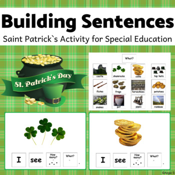 St Patrick`s Day Speech Therapy Activity - Sentence Building