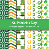 St. Patrick's Day Digital Papers Spring Digital Papers Bac