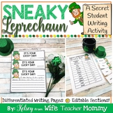 St. Patrick's Day Writing Activity- Sneaky Leprechaun Writing Prompts