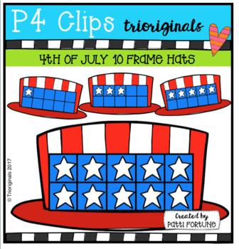 Stars and Stripes 10 Frames (P4 Clips Trioriginals Clip Art)