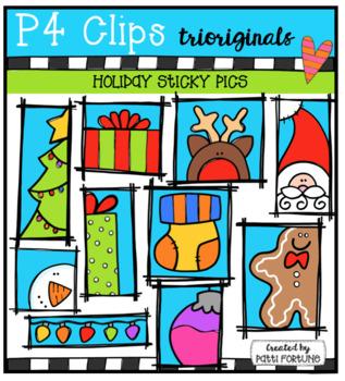 Sticky Frames Holiday Pictures (P4 Clips Trioriginals Clip Art)