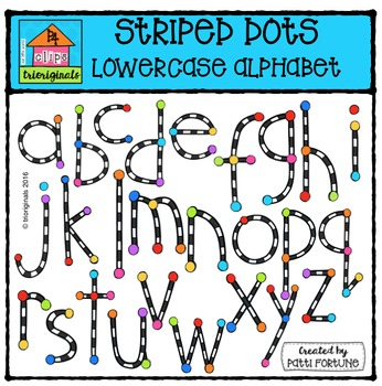 Stripe Alphabet Lowercase {P4 Clips Trioriginals Digital Clip Art}