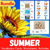 Summer Activities, Worksheets and Flashcards