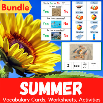 Summer Packet for Speech Therapy and Special Education