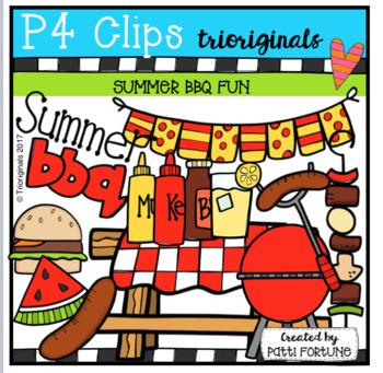 Summer Fun BBQ (P4 Clips Trioriginals Clip Art)