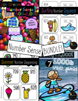 Summer Numbers to 1,000 CENTERS BUNDLE!!