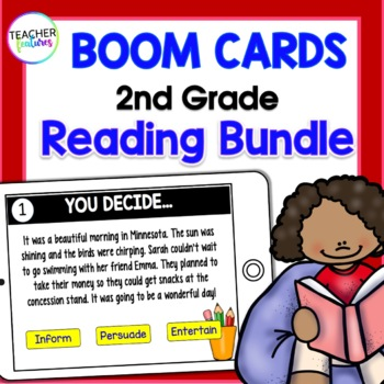 BOOM CARDS BUNDLE Digital Task Cards for READING
