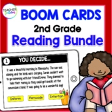 BOOM CARDS READING Digital Task Cards for 2nd Grade & 3rd Grade BOOM CARD BUNDLE
