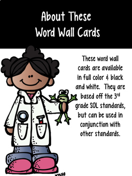 3rd Grade Science Word Wall Cards