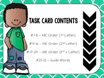 ABC Order & Guide Word Task Cards